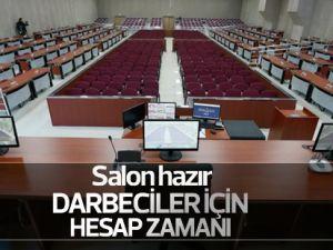 İzmir'de darbecilerin yargılanacağı salon hazırlandı