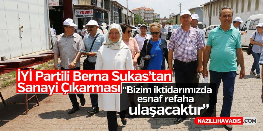İYİ Partili Berna Sukas Nazilli Sanayi'sine çıkarma yaptı