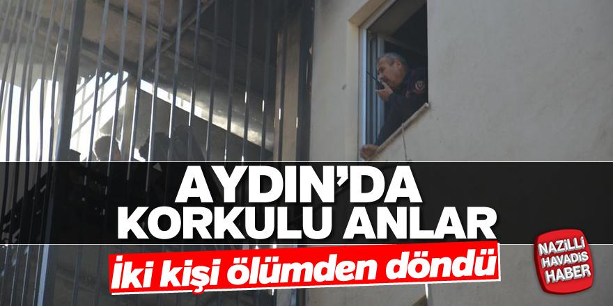 Aydın'da iki kişi ölümden döndü