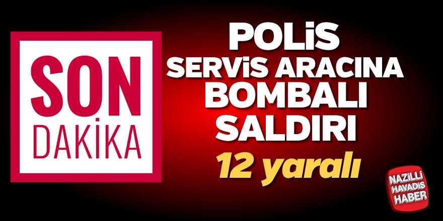 Polise bombalı saldırı