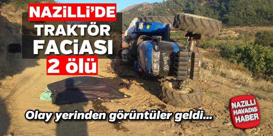 Nazilli'de traktör devrildi; 2 ölü