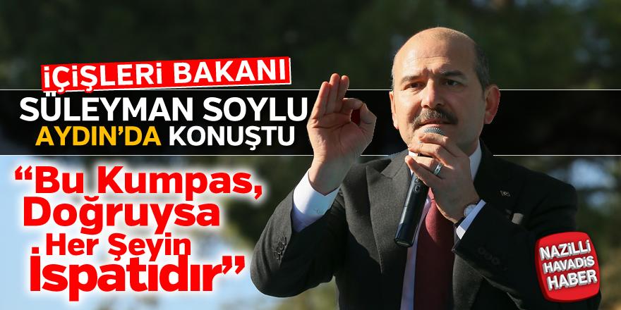 Süleyman Soylu Aydın'da konuştu