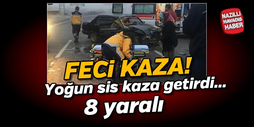 Sis nedeniyle 2 araç kaza yaptı; 8 yaralı