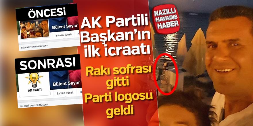 AK Partili Başkan'ın ilk icraatı