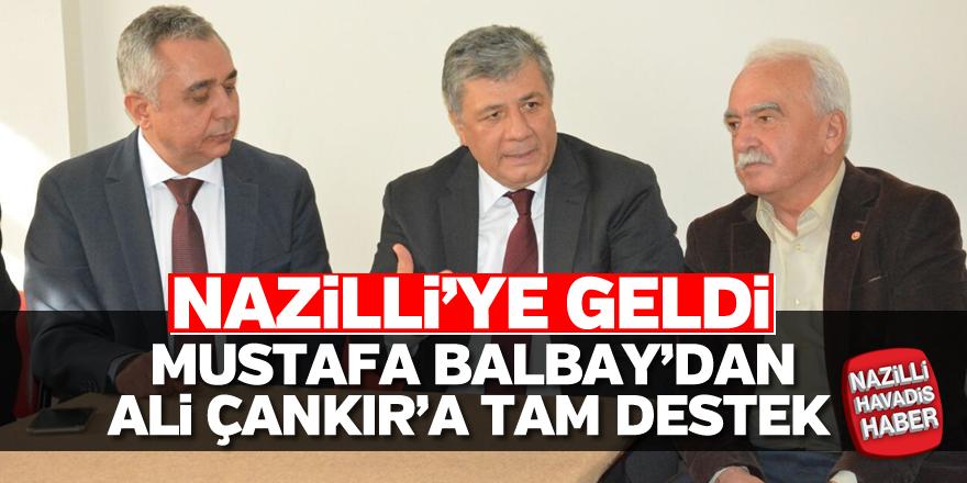 Mustafa Balbay'dan Çankır'a destek