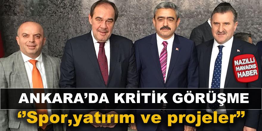 Haluk Alıcık Ankara'da Bakanla bir araya geldi