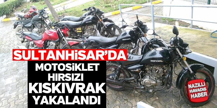 Sultanhisar'da motosiklet hırsızı yakayı ele verdi