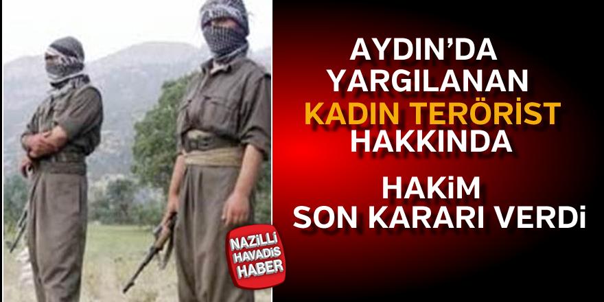 """""""Güle"""" kod adlı kadın terörist, 9 yıla mahkum oldu"""