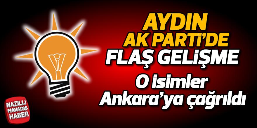 Aydın AK Parti'de flaş gelişme