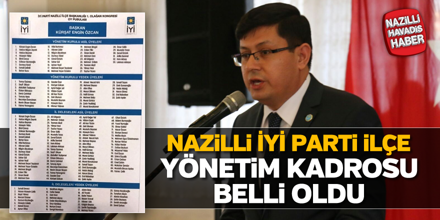 Nazilli İYİ Parti ilçe yönetim kadrosu belli oldu