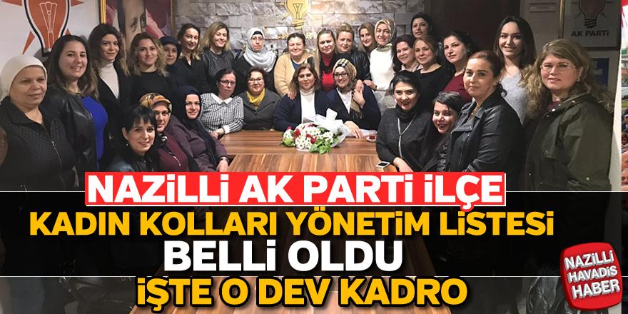 Nazilli AK Parti İlçe Kadın Kolları yönetim listesi belli oldu