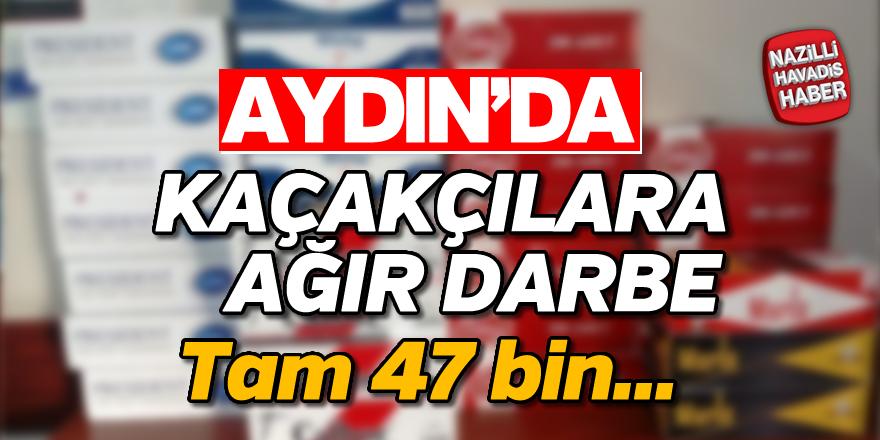 Aydın'da kaçakçılara ağır darbe