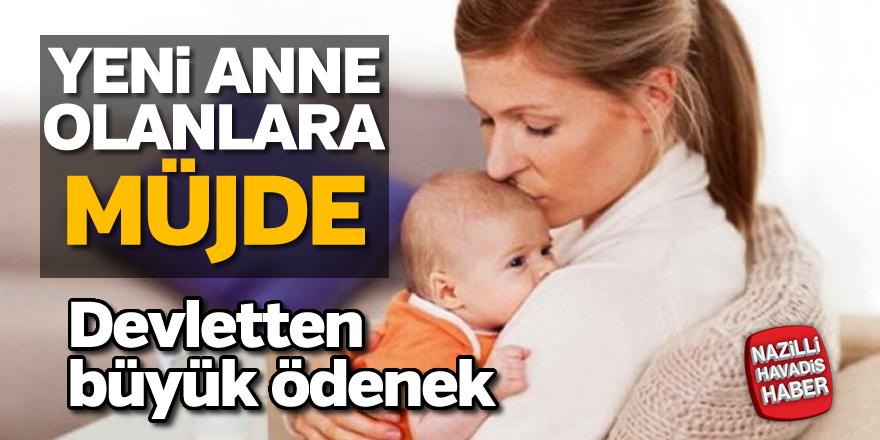 Yeni anne olana devlet ödeneği