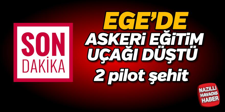 Ege'de askeri eğitim uçağı düştü