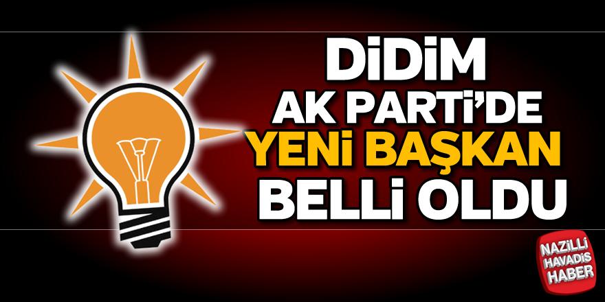 Didim AK Parti'de yeni başkan belli oldu