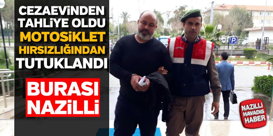 Nazilli'de motosiklet hırsızlığı; 1 tutuklama