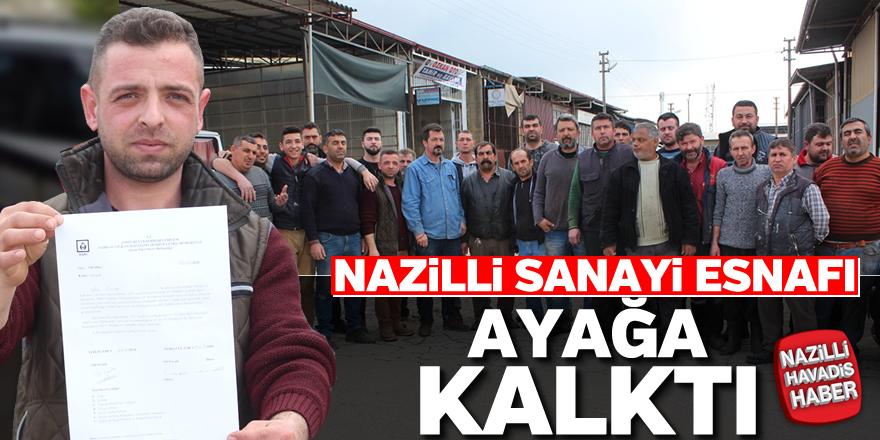 Nazilli sanayi esnafı ASKİ'ye tepki gösterdi