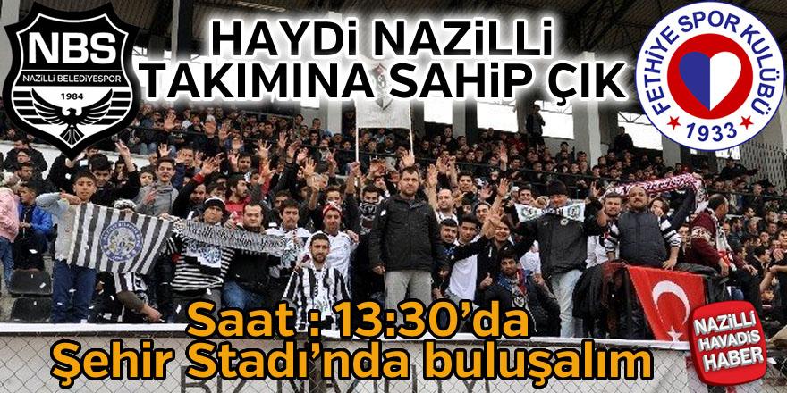Nazilli Belediyespor kader maçına çıkıyor