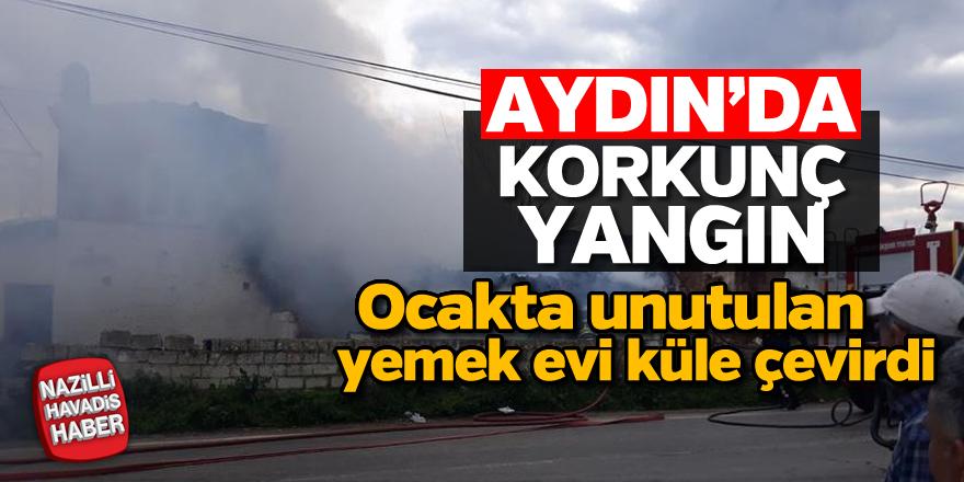 Aydın'da korkunç yangın