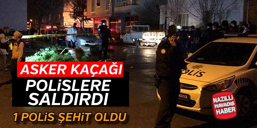 Asker kaçağı GBT kontrolünde polislere saldırdı