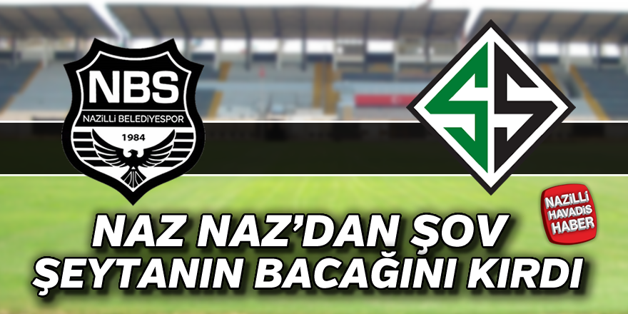 Nazilli Belediyespor : 3 - Sakaryaspor : 0