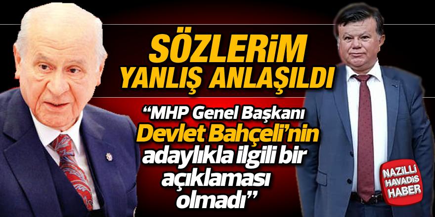 """Mehmet Demirel;""""SÖZLERİM YANLIŞ ANLAŞILDI"""""""