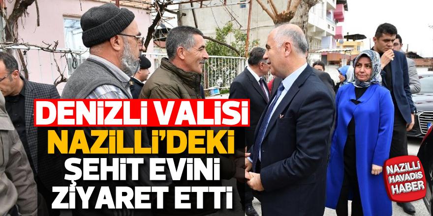 Denizli Valisi Hasan Karahan, Nazilli'deki şehit evini ziyaret etti