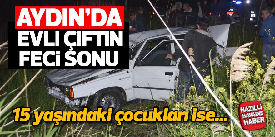 Aydın'da otomobil sulama kanalına düştü: 2 ölü