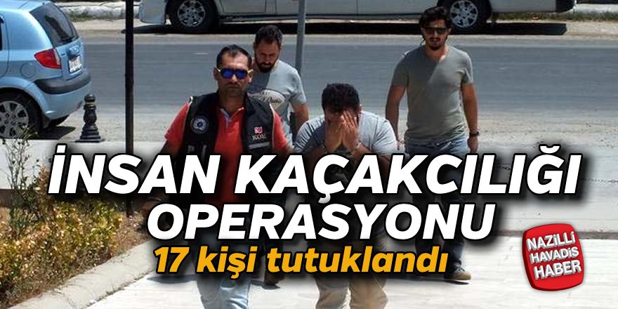 İnsan kaçakçılığı operasyonu