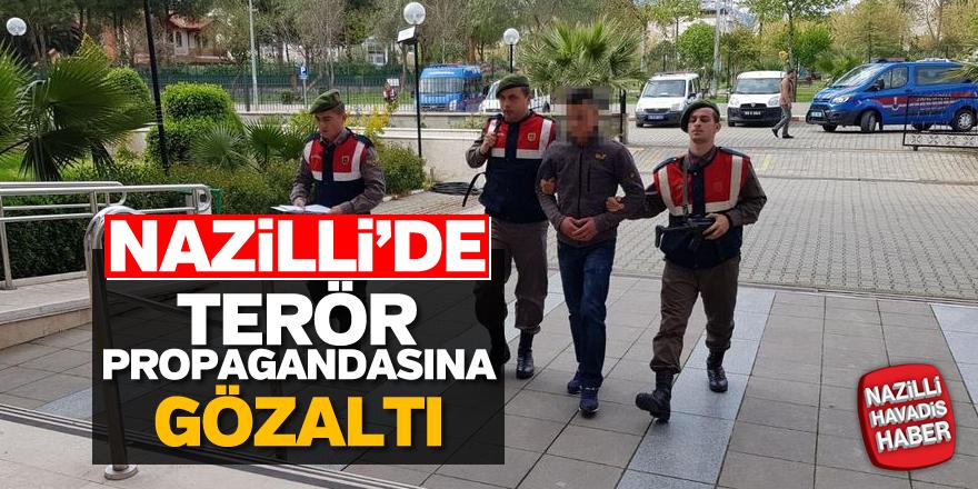 Nazilli'de terör propagandası yapan kişiye gözaltı