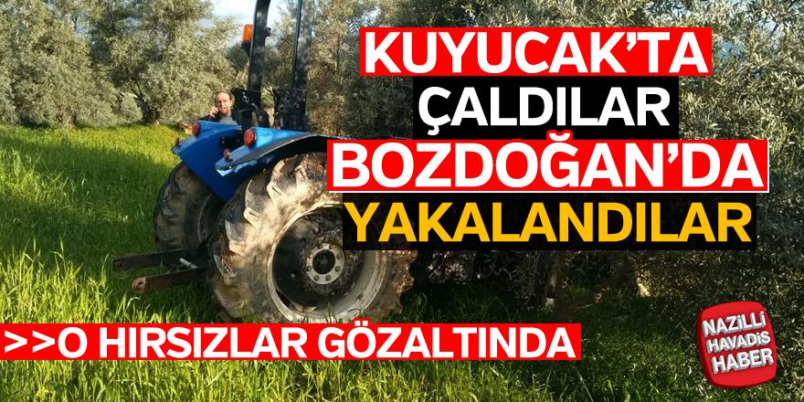 Kuyucak'tan traktör çalan hırsızlar yakalandı