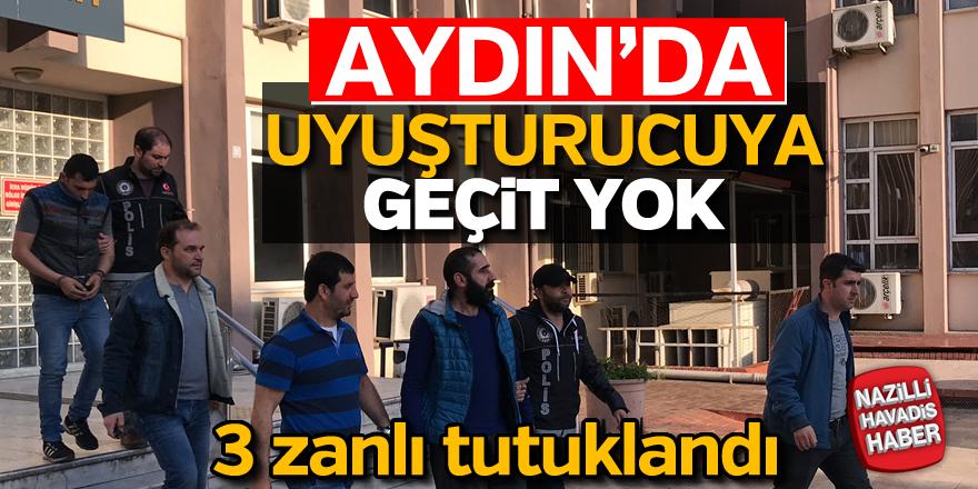 Aydın'da zehir tacirlerine darbe; 3 tutuklama