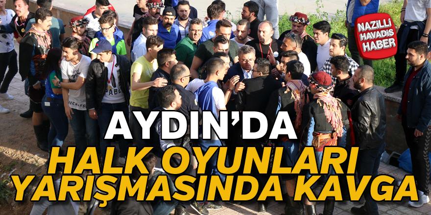 Aydın'da halk oyunları yarışmasında kavga