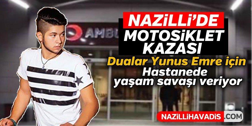 Nazilli'de motosiklet kazası; 1 ağır yaralı