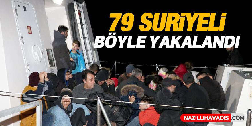 Aydın'da 79 Suriyeli böyle yakalandı