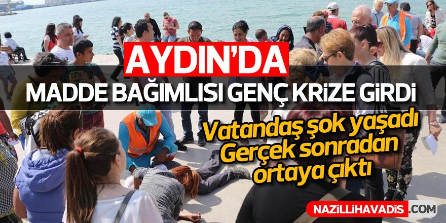 Aydın'da madde bağımlısı genç krize girdi