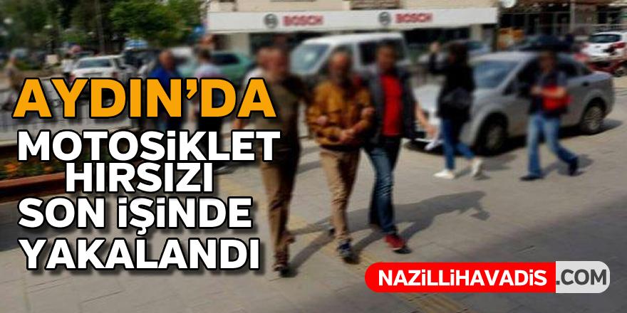 Aydın'da motosiklet hırsızı son işinde yakalandı