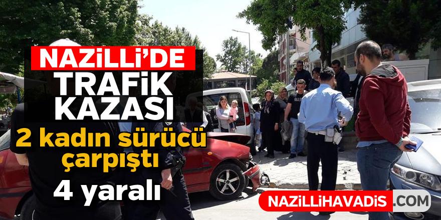 Nazilli'de trafik kazası : 4 yaralı
