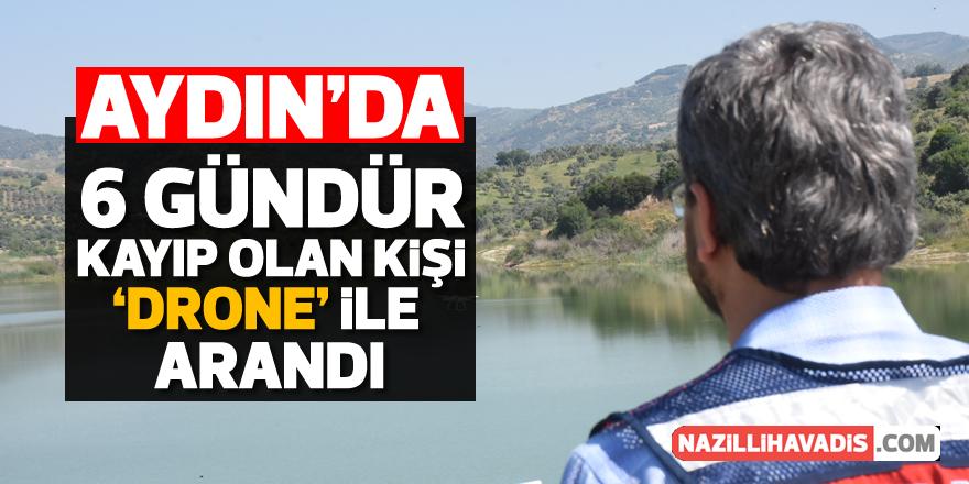 Aydın'da kayıp kişi drone ile arandı