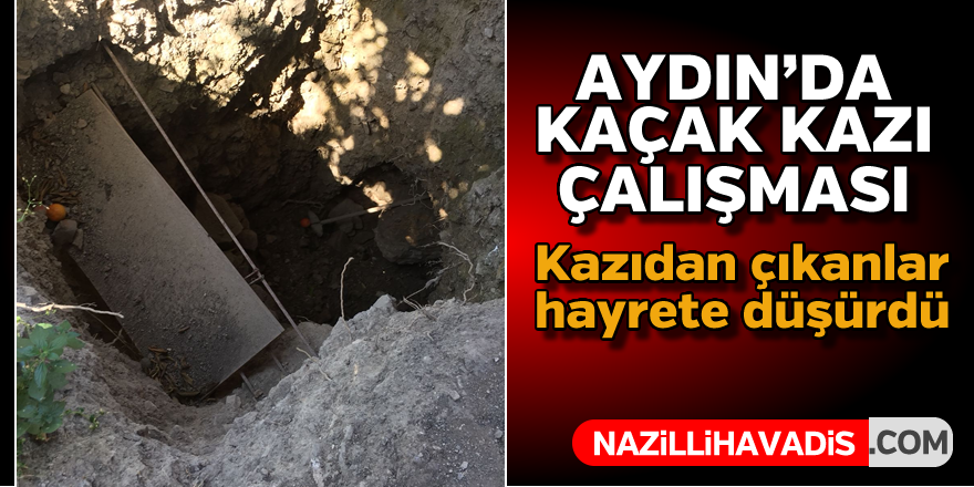 Aydın'da kaçak kazı çalışması