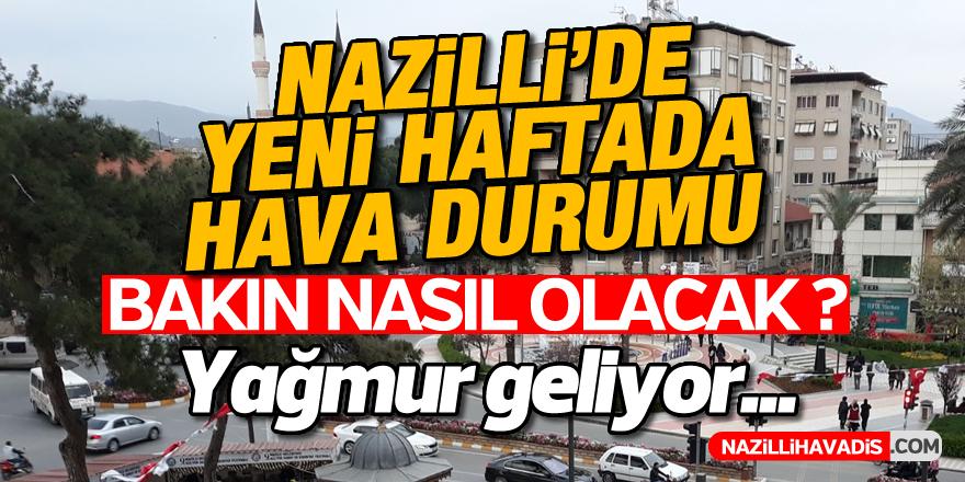 Nazilli'de yeni haftada hava durumu nasıl olacak ?