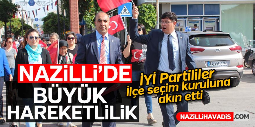 İYİ Partililer İlçe seçim kuruluna akın etti