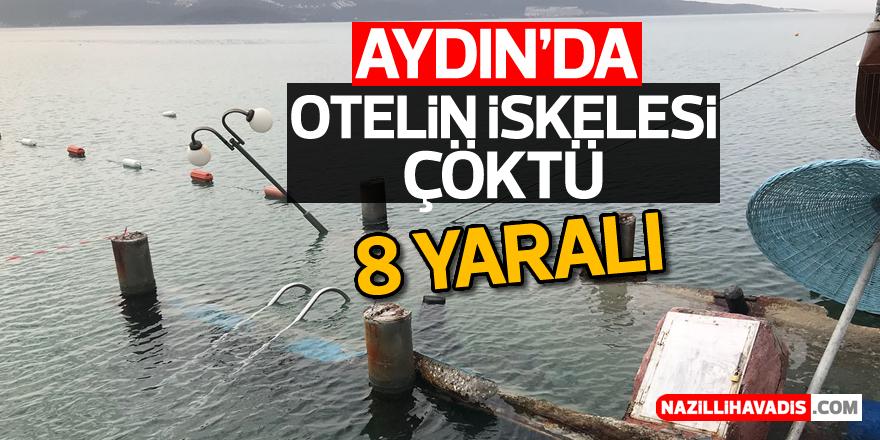 Aydın'da otelin iskelesi çöktü: 8 yaralı