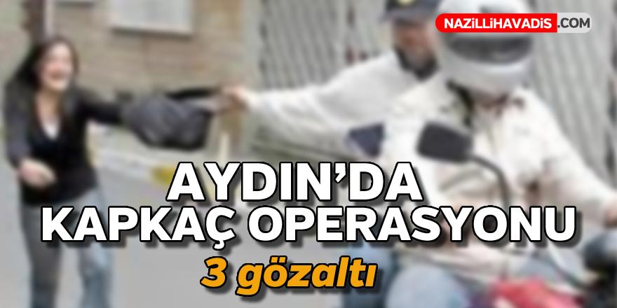Aydın'da kapkaç operasyonu