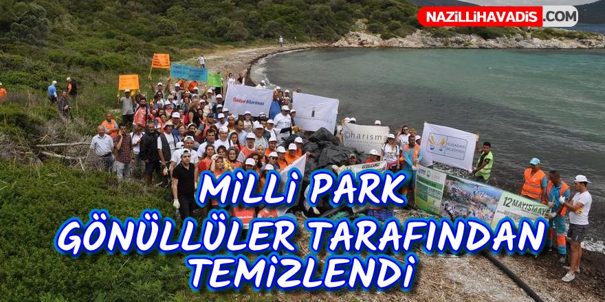 Milli Park gönüllüler tarafından temizlendi