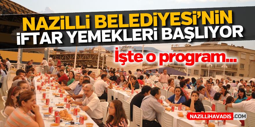 Nazilli Belediyesi'nin iftar yemekleri başlıyor
