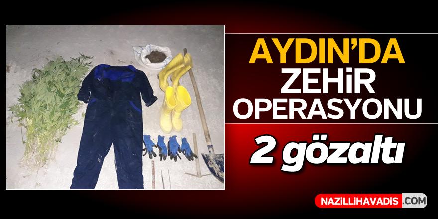 Aydın'da uyuşturucu operasyonu; 2 gözaltı