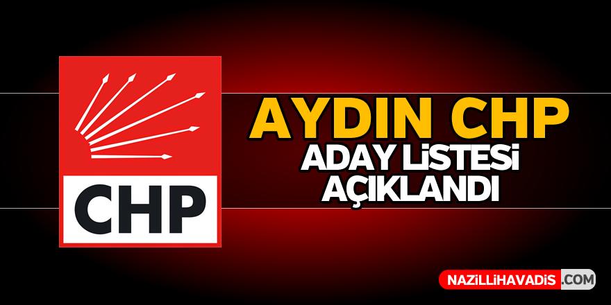 Aydın CHP aday listesi açıklandı