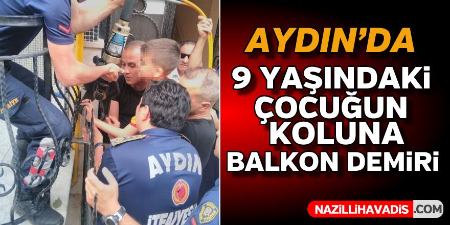 Aydın'da 9 yaşındaki çocuğun koluna demir saplandı
