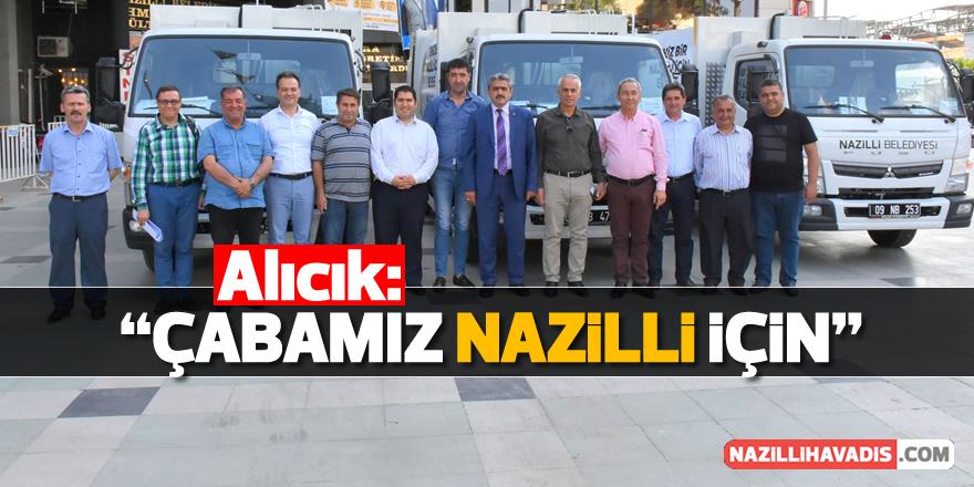 Nazilli Belediyesi yeni araç filosu ile daha güçlü